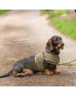 <Mutts & Hounds> 犬用ツイードハーネス グリーン
